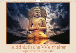 Buddhistische Weisheiten begleiten durch das Jahr (Wandkalender 2021 DIN A4 quer) von DESIGN Photo + PhotoArt,  AD, Dölling,  Angela