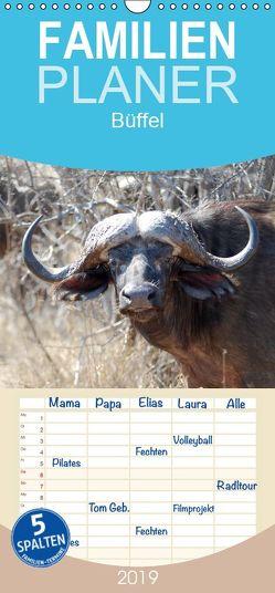 Büffel – Familienplaner hoch (Wandkalender 2019 , 21 cm x 45 cm, hoch) von Ohm,  Britta