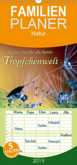 Bühne frei für die bunte Tröpfchenwelt – Familienplaner hoch (Wandkalender 2019 , 21 cm x 45 cm, hoch) von Roder,  Peter