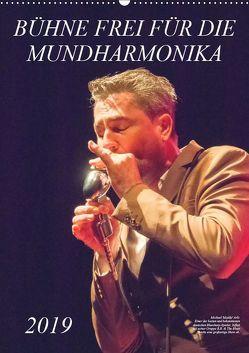 Bühne frei für die Mundharmonika (Wandkalender 2019 DIN A2 hoch) von Rohwer,  Klaus