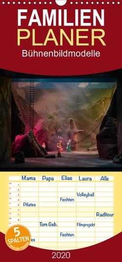 Bühnenbildmodelle – Familienplaner hoch (Wandkalender 2020 , 21 cm x 45 cm, hoch) von Tasche,  Pia