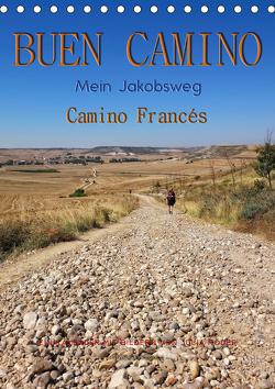 Buen Camino – Mein Jakobsweg – Camino Francés (Tischkalender 2021 DIN A5 hoch) von Roder,  Peter
