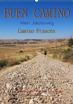 Buen Camino – Mein Jakobsweg – Camino Francés (Wandkalender 2021 DIN A2 hoch) von Roder,  Peter