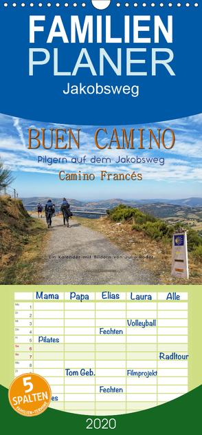 Buen Camino – pilgern auf dem Jakobsweg – Camino Francés – Familienplaner hoch (Wandkalender 2020 , 21 cm x 45 cm, hoch) von Roder,  Peter