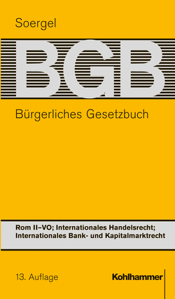 Bürgerliches Gesetzbuch mit Einführungsgesetz und Nebengesetzen (BGB) von Pfeiffer,  Thomas, Soergel,  Hans-Theodor