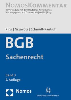 Bürgerliches Gesetzbuch: Sachenrecht von Grziwotz,  Herbert, Ring,  Gerhard, Schmidt-Räntsch,  Johanna