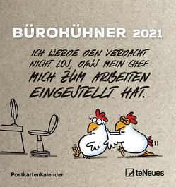 Bürohühner 2021 – Postkarten-Kalender – Kalender-mit-Postkarten – zum-raustrennen – 16×17 von Holzach,  Alexander