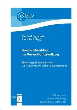 Bürokratieabbau im Verwaltungsvollzug von Brüggemeier,  Martin, Lenk,  Klaus