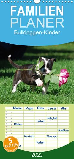 Bulldoggen-Kinder – Familienplaner hoch (Wandkalender 2020 , 21 cm x 45 cm, hoch) von Stanzer,  Elisabeth