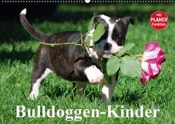 Bulldoggen-Kinder (Wandkalender 2019 DIN A2 quer) von Stanzer,  Elisabeth