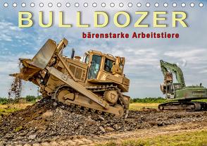 Bulldozer – bärenstarke Arbeitstiere (Tischkalender 2021 DIN A5 quer) von Roder,  Peter