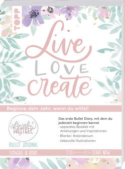 Bullet Journal Lovely Pastell Flowers & Boho – Live, love, create von Stapff,  Christin