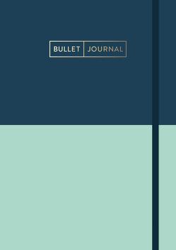 "Bullet Journal ""Mint Blue"" 05 mit original Tombow TwinTone Dual-Tip Marker 42 navy"