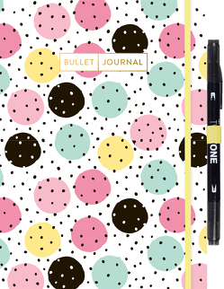 "Bullet Journal ""Pastel Dots"" mit original Tombow TwinTone Dual-Tip Marker 33 black"