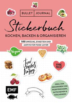 Bullet Journal – Stickerbuch: Kochen, Backen & Organisieren