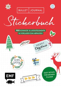 Bullet Journal – Stickerbuch Merry Christmas: 900 weihnachtliche Schmuckelemente