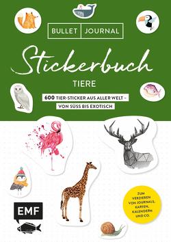 Bullet Journal Stickerbuch – Tiere: 800 Tiere aus aller Welt –von süß bis exotisch