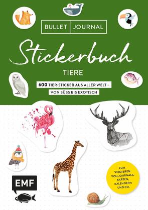 Bullet Journal Stickerbuch – Tiere: 900 Tiere aus aller Welt – von süß bis exotisch