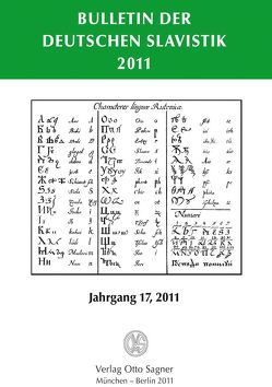 Bulletin der Deutschen Slavistik 2011 von Kempgen,  Sebastian, Udolph,  Ludger