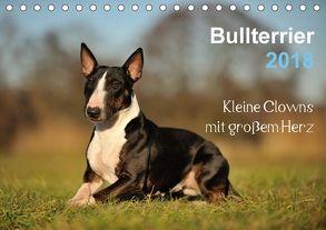 Bullterrier 2018 – Kleine Clowns mit großem Herz (Tischkalender 2018 DIN A5 quer) von Janetzek,  Yvonne
