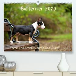 Bullterrier 2020 Frech und fröhlich durch das Jahr (Premium, hochwertiger DIN A2 Wandkalender 2020, Kunstdruck in Hochglanz) von Janetzek,  Yvonne