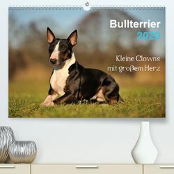 Bullterrier 2020 – Kleine Clowns mit großem Herz (Premium, hochwertiger DIN A2 Wandkalender 2020, Kunstdruck in Hochglanz) von Janetzek,  Yvonne