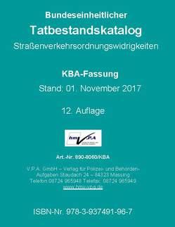 Bundeseinheitlicher Tatbestandskatalog KBA-Langfassung, gebunden von V.P.A. GmbH