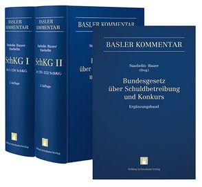 Bundesgesetz über Schuldbetreibung und Konkurs I (Art. 1-158 SchKG) + II (Art. 159-352 SchKG) + Ergänzungsband von Bauer,  Thomas, Staehelin,  Daniel