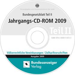Bundesgesetzblatt Teil II Jahrgangs-CD-ROM 2009