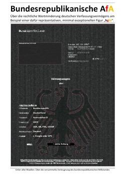 """Bundesrepublikanische AfA – Beispiel einer dafür repräsentativen, minimal exzeptionellen Figur """"hgM"""". von Deutschland,  (SP: D) Sozialkritische Professionals:, Faust,  C. M."""
