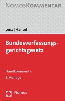 Bundesverfassungsgerichtsgesetz von Hansel,  Ronald, Lenz,  Christofer