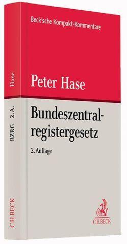 Bundeszentralregistergesetz von Hase,  Peter
