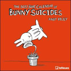 Bunny Suicides 2022 – Wand-Kalender – Broschüren-Kalender – 30×30 – 30×60 geöffnet – Cartoon von Riley,  Andy