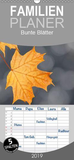 Bunte Blätter – Familienplaner hoch (Wandkalender 2019 , 21 cm x 45 cm, hoch) von Herzog,  Thomas, www.bild-erzaehler.com