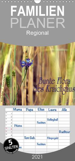 Bunte Flora des Kraichgaus – Familienplaner hoch (Wandkalender 2021 , 21 cm x 45 cm, hoch) von Reiter,  Monika