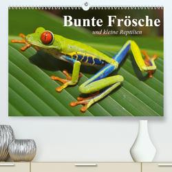 Bunte Frösche und kleine Reptilien (Premium, hochwertiger DIN A2 Wandkalender 2020, Kunstdruck in Hochglanz) von Stanzer,  Elisabeth
