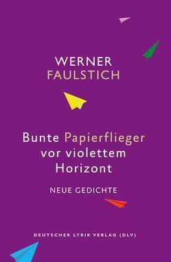 Bunte Papierflieger vor violettem Horizont von Faulstich,  Werner