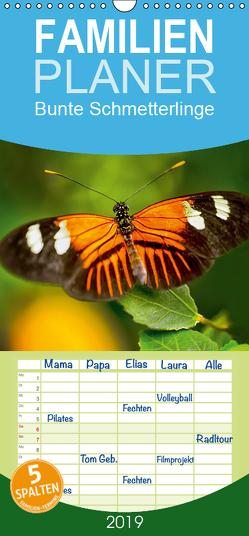 Bunte Schmetterlinge – Familienplaner hoch (Wandkalender 2019 , 21 cm x 45 cm, hoch) von Photography,  Photoga, Wernicke-Marfo,  Gabriela