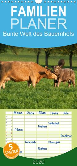 Bunte Welt des Bauernhofs – Familienplaner hoch (Wandkalender 2020 , 21 cm x 45 cm, hoch) von Münzel-Hashish - www.tierphotografie.com,  Angela