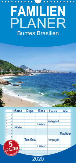 Buntes Brasilien – Familienplaner hoch (Wandkalender 2020 , 21 cm x 45 cm, hoch) von Woiczyk,  Maren