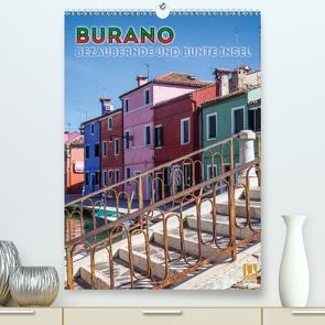 BURANO Bezaubernde und bunte Insel (Premium, hochwertiger DIN A2 Wandkalender 2020, Kunstdruck in Hochglanz) von Viola,  Melanie