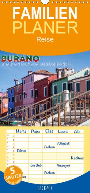 BURANO Charmante und farbenfrohe Insel – Familienplaner hoch (Wandkalender 2020 , 21 cm x 45 cm, hoch) von Viola,  Melanie
