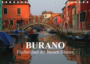Burano – Fischerinsel der bunten Häuser (Tischkalender 2020 DIN A5 quer) von Werner Altner,  Dr.