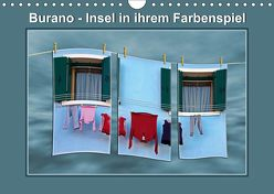 Burano – Insel in ihrem Farbenspiel (Wandkalender 2019 DIN A4 quer) von Hobscheidt,  Ernst