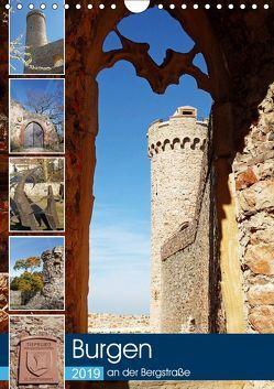 Burgen an der Bergstraße (Wandkalender 2019 DIN A4 hoch) von Andersen,  Ilona