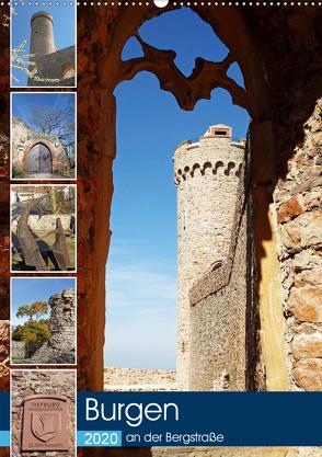 Burgen an der Bergstraße (Wandkalender 2020 DIN A2 hoch) von Andersen,  Ilona