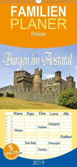 Burgen im Aostatal – Familienplaner hoch (Wandkalender 2019 , 21 cm x 45 cm, hoch) von LianeM