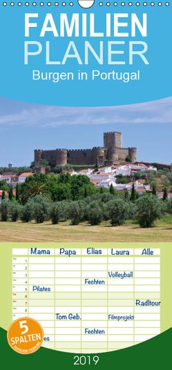 Burgen in Portugal – Familienplaner hoch (Wandkalender 2019 , 21 cm x 45 cm, hoch) von LianeM