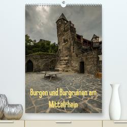 Burgen und Burgruinen am Mittelrhein (Premium, hochwertiger DIN A2 Wandkalender 2020, Kunstdruck in Hochglanz) von Hess,  Erhard