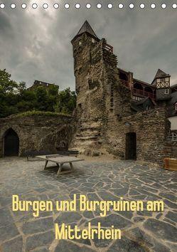 Burgen und Burgruinen am Mittelrhein (Tischkalender 2019 DIN A5 hoch) von Hess,  Erhard